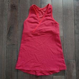 Lululemon Pink Deep V Tank Size 4